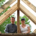 Kai & I in late May 2011, building our Tiny House.