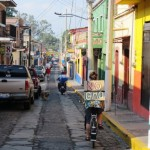 Bicycling to the March Against Monsanto in Ajijic, Jalisco Mexico.